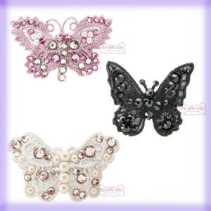 Beauty & Bijoux: le mollettine Butterfly Hairclip di For Pets Only le trovi da Mon Petit Boutique