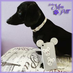 Per mamma e papà: Le Cover IPhone 7 Plus TopoMio decorate con preziosi cristalli Swarovski di For Pets Only le trovi da Mon Petit Boutique