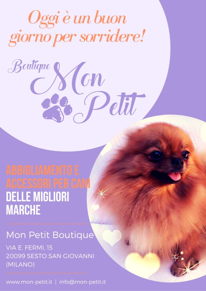 Mon Petit Boutique - Un Mondo di Coccole! Abbigliamento per cani, Accessori e Pasticceria delle migliori marche